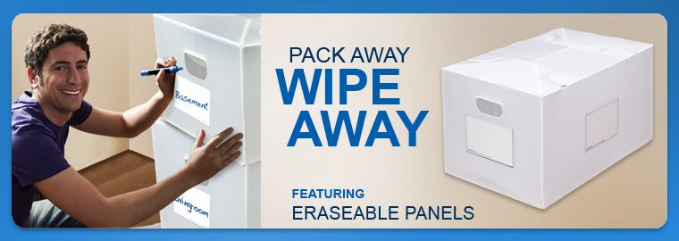 Pack Away Wipe Away - Erasable End Panel