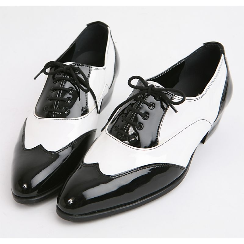 men black and white spectator shoe full brogue men's britsh fashion  co-respondent two-