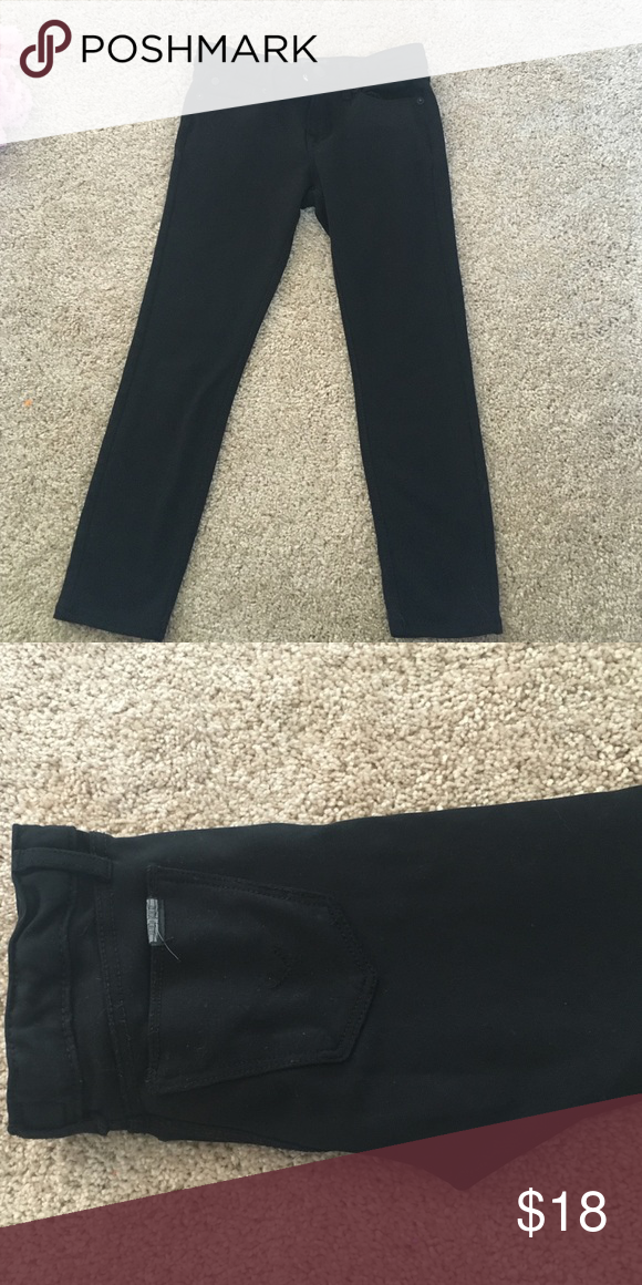 Hudson Size 6 Black Jeggings Black very cute jeggings. Elastic waist. Perfect condition. Hudson Hudson Jeans Bottoms Jeans