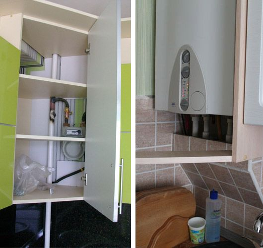 как на кухне спрятать газовую трубу фото