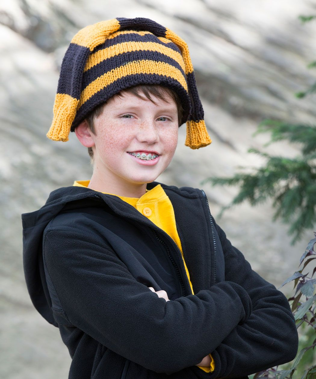 Hockey Fan Knit Hat Knitting Pattern | Red Heart | Knitted ...