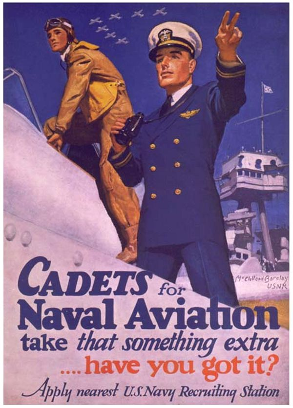 Cadets Naval Aviation WW2 US Navy Vintage Poster 24x36