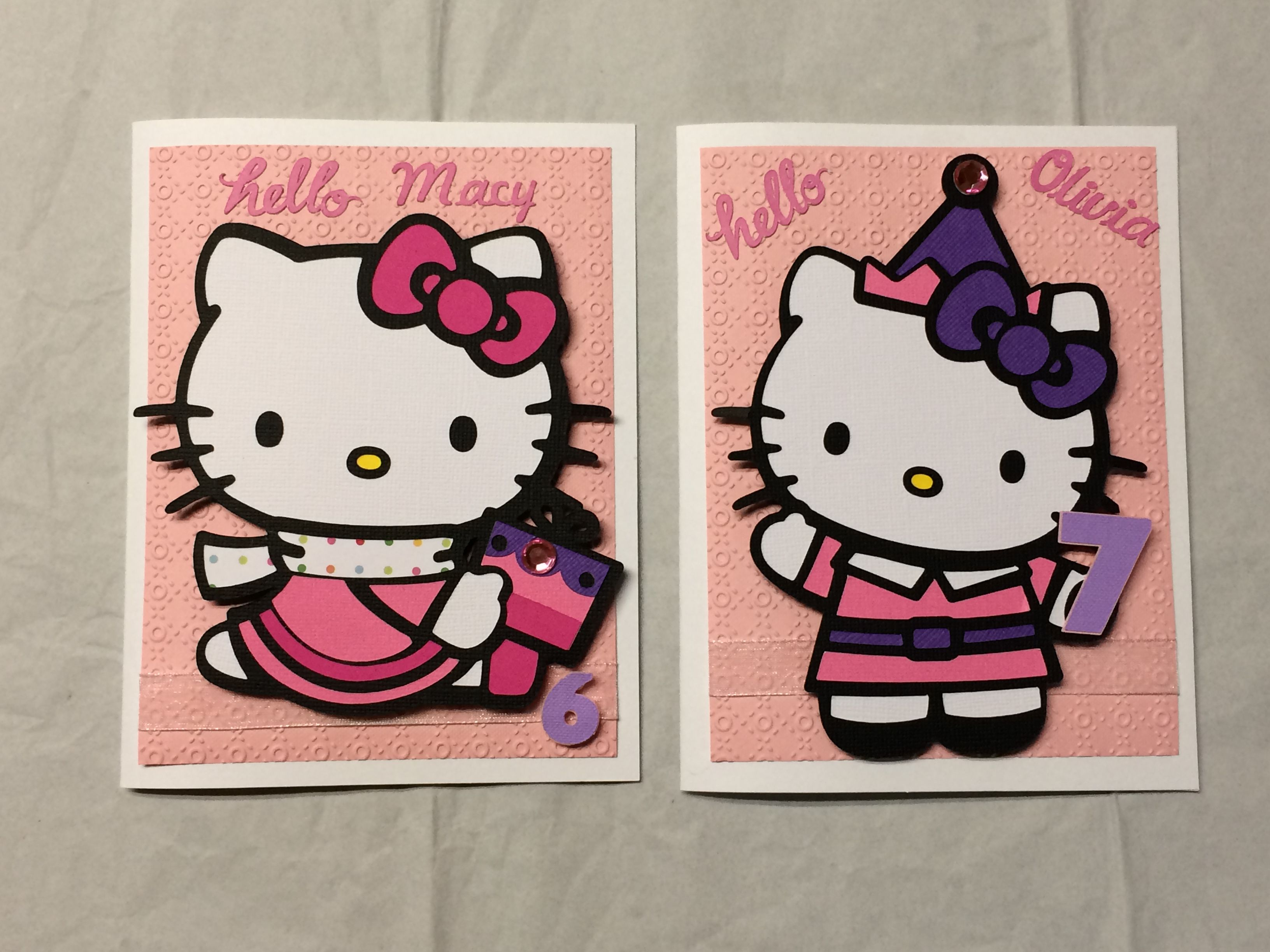 Hello kitty birthday cards made using my cricut explore and design