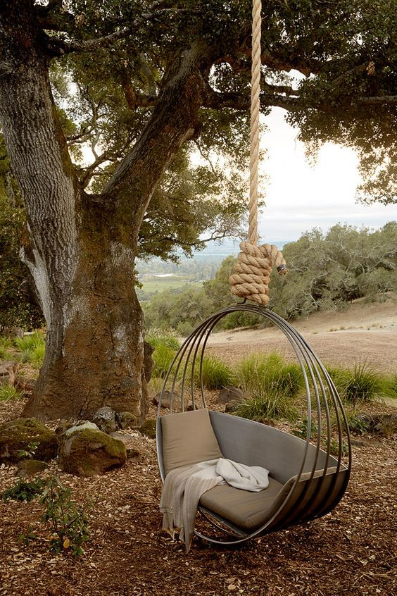 10 Amazing Outdoor Swing Bed Designs Mediterranean Landscaping