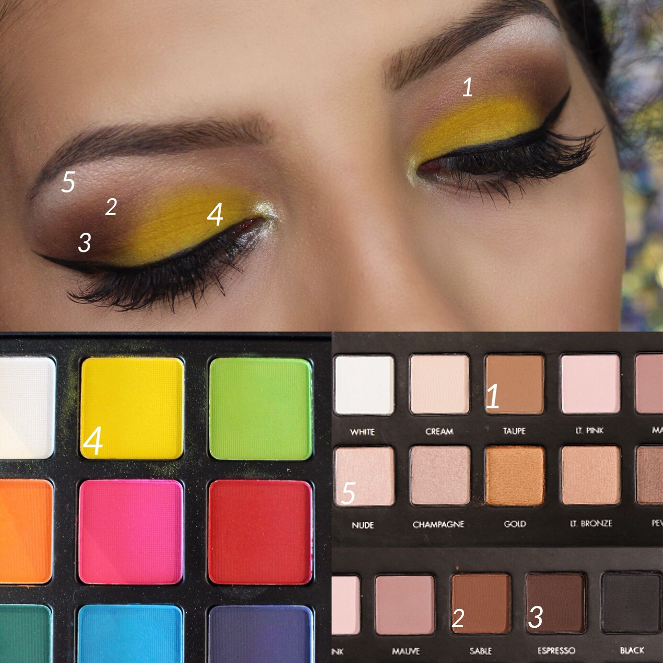Step by step using Lorac PRO 1 Palette and Morphe 12p
