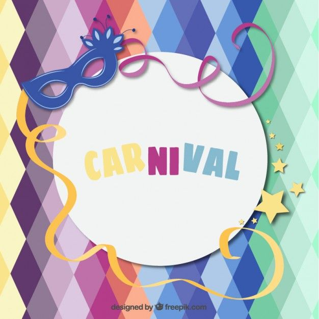 Fondo divertido carnaval Vector Gratis