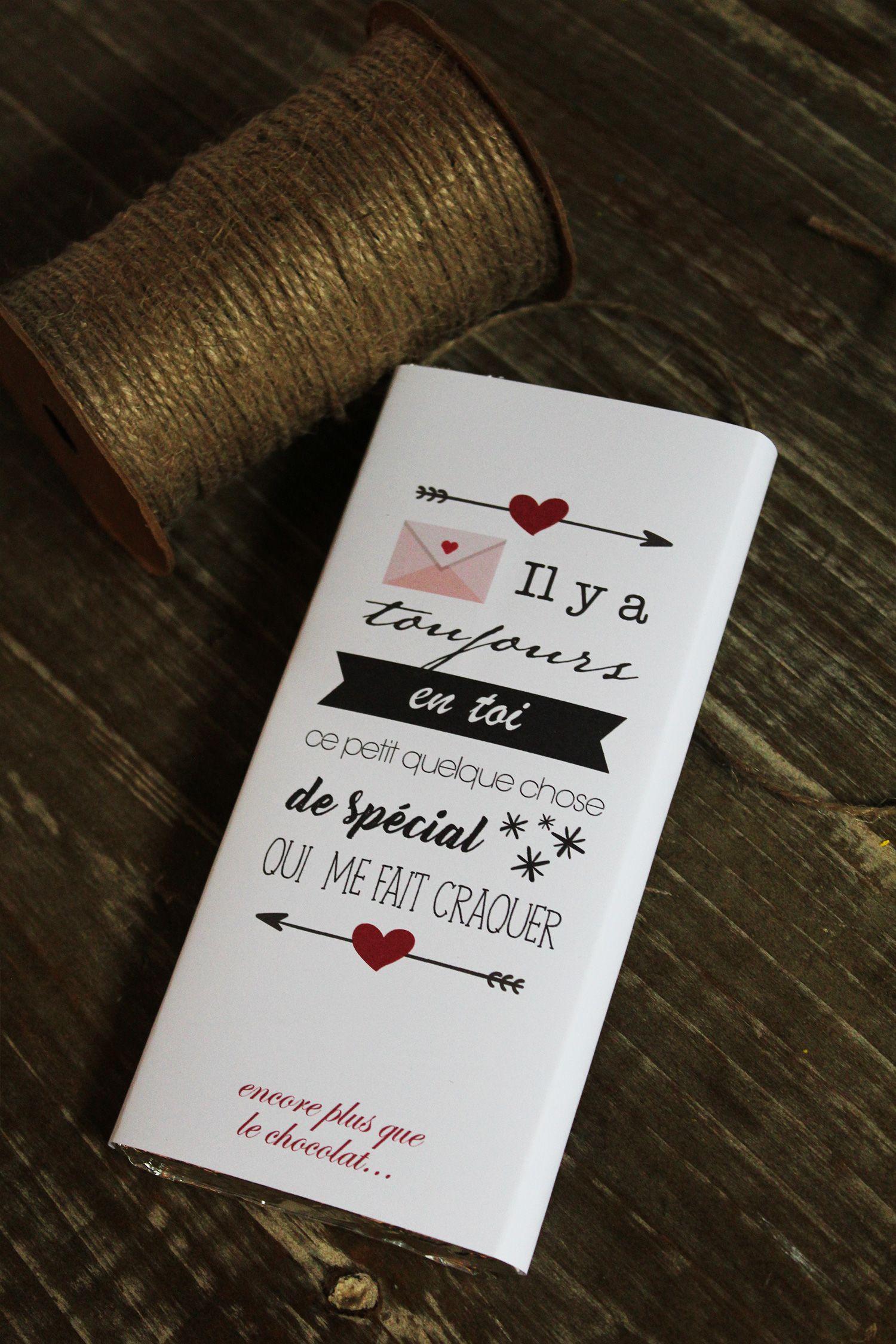 Tablette De Chocolat Love Saint Valentin Amour Cadeau Originale