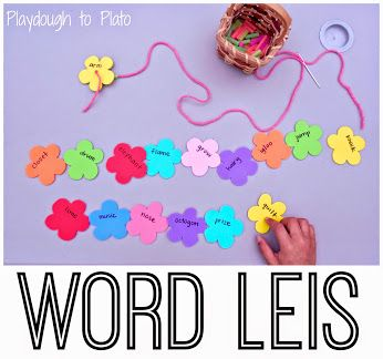Word Leis #KidsActivities #KidsCrafts #ActivitiesForKids
