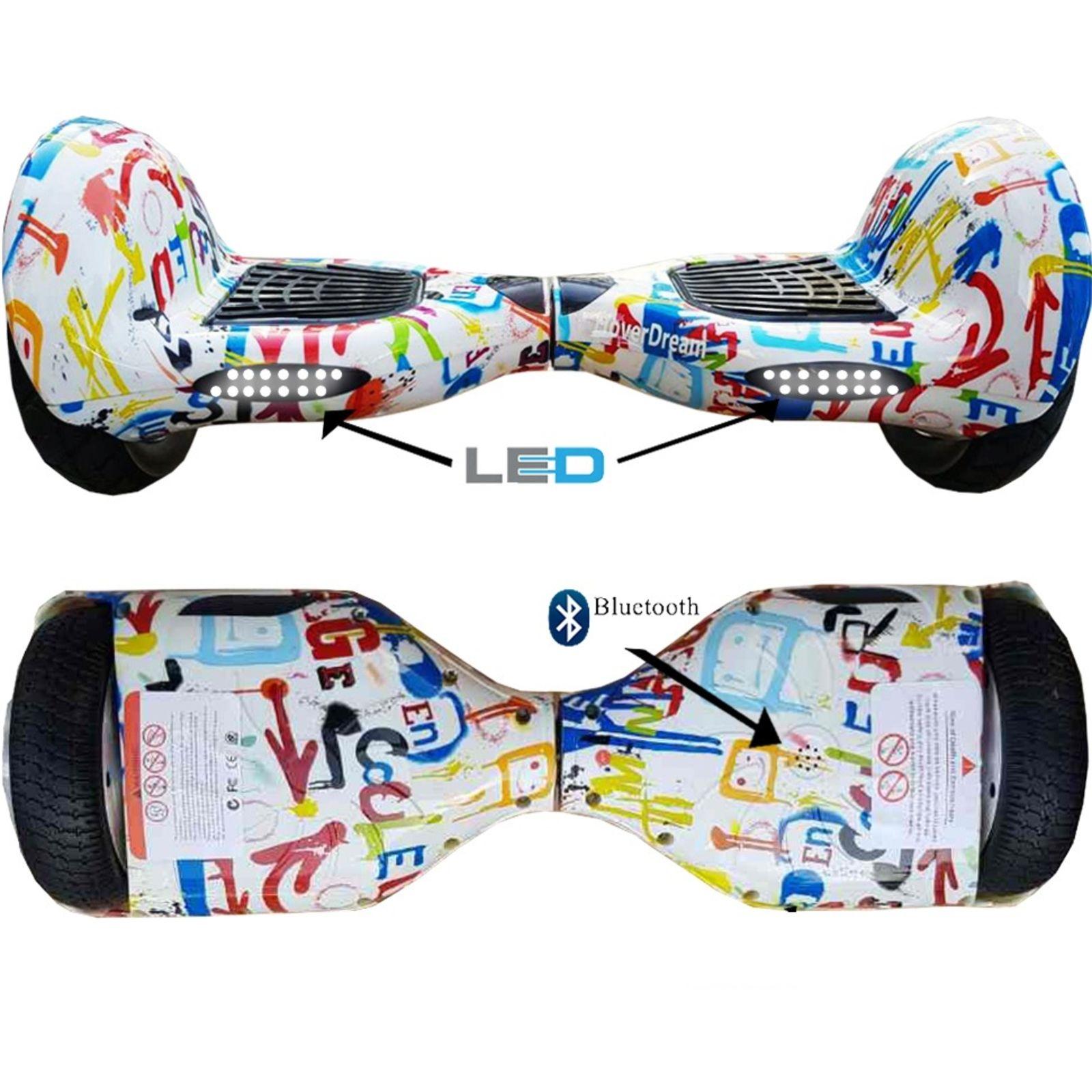 Skate Elétrico Hoverboard 10 Polegadas Grafitte Pneu Inflável - LED ... dee8d44dda9