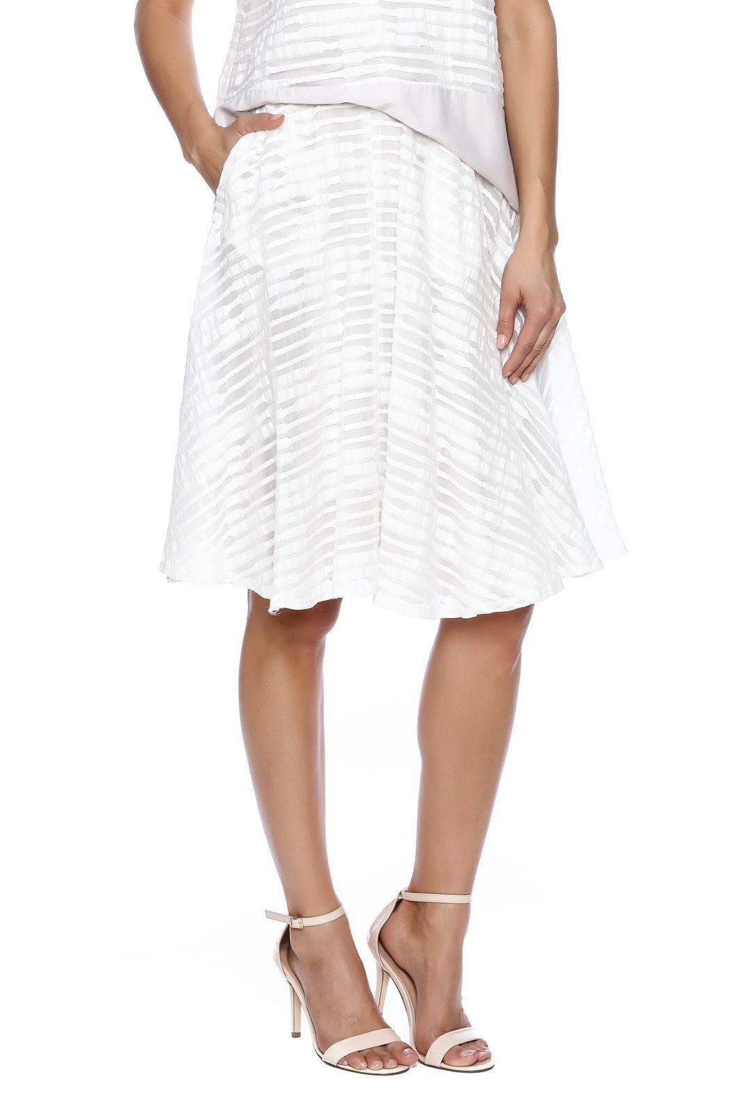Waverly Grey Flared Skirt | More Flared skirt and Elastic waist ideas