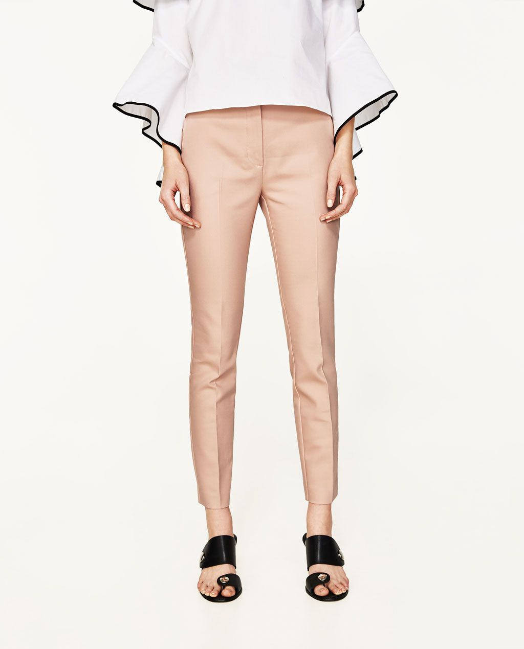 Stretch Waist Skinny Trousers Skinny Trousers Woman Zara Canada Zara Trendy Trouser Skinny Trousers