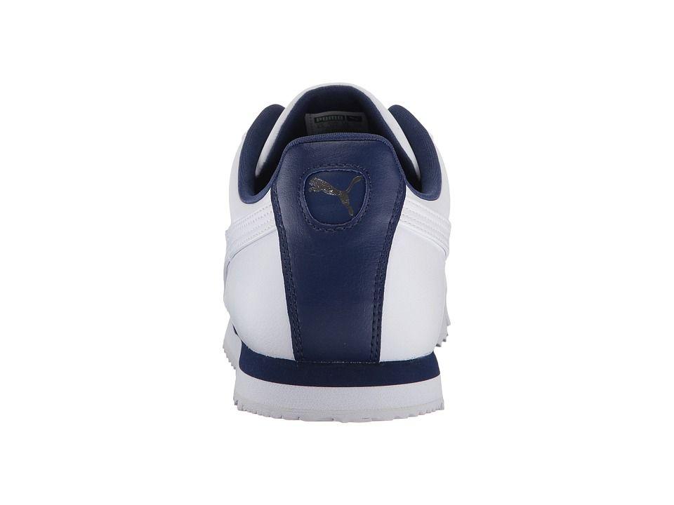 13aa2098f4d PUMA Roma Basic Men s Shoes Puma White Blue Depths