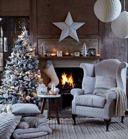 Déco de Noël : un intérieur tout blanc