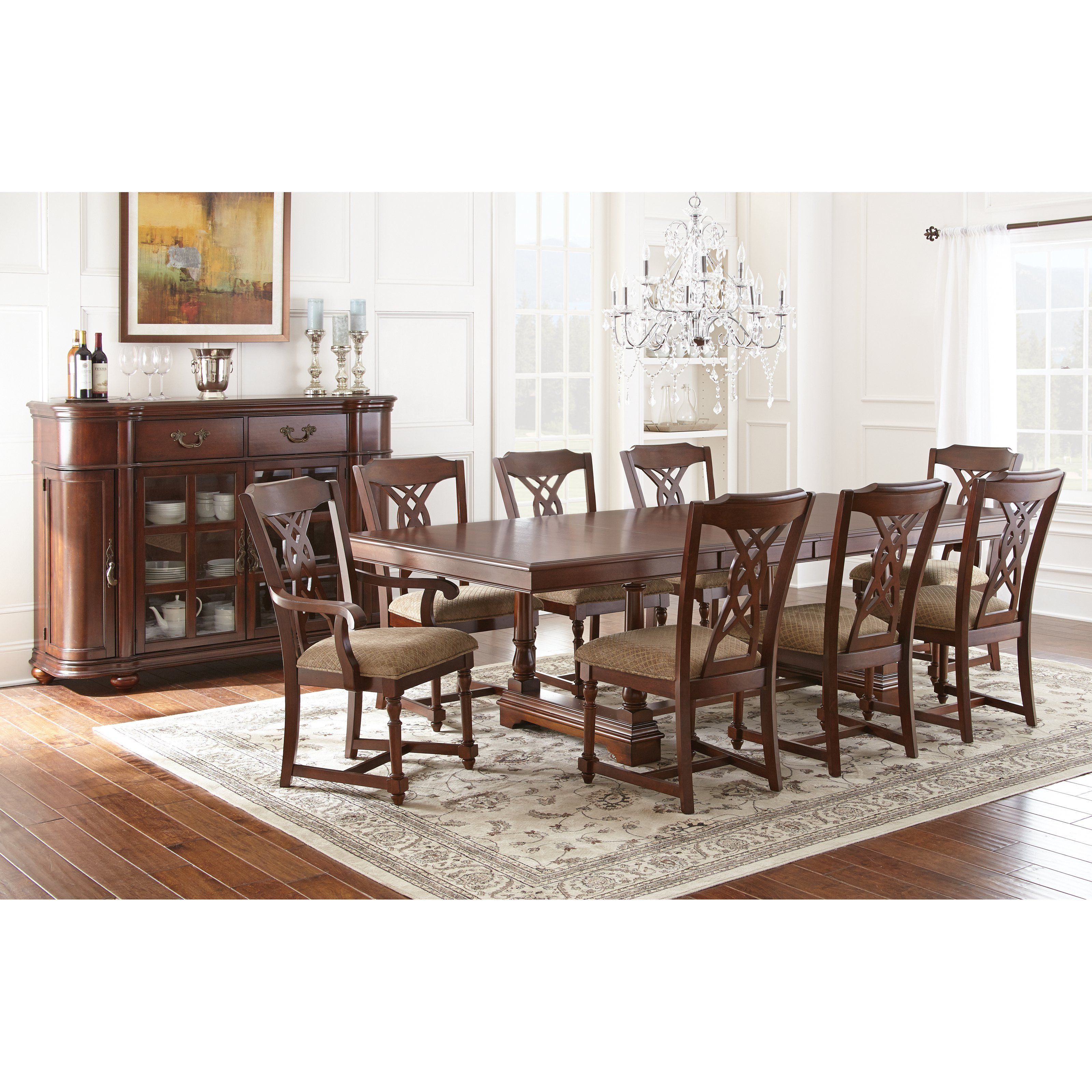 Have to have it Steve Silver Archer 9 Piece Dining Table Set with