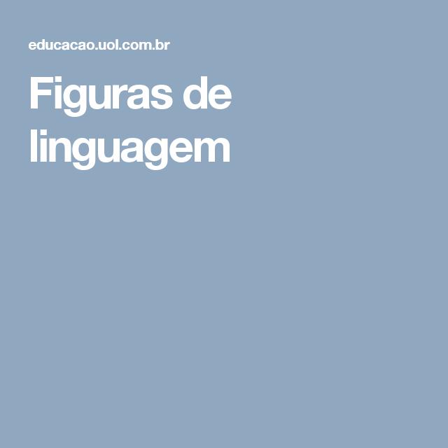 Figuras de linguagem | SLIDE | Pinterest
