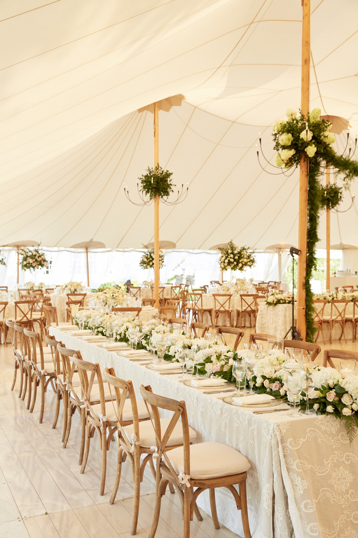Fall wedding decoration ideas reception  A Tented Summer Wedding in Southampton  Southampton and Wedding