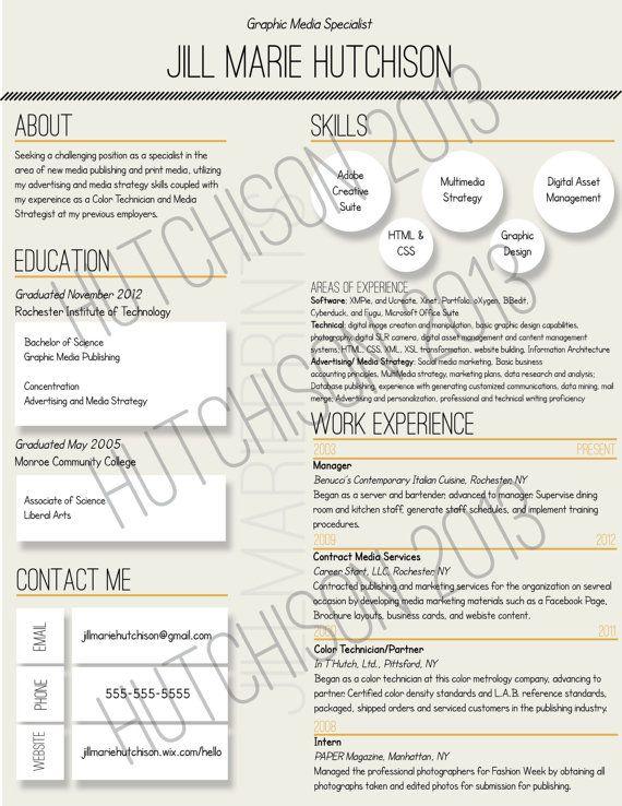 custom unique resumes by jillmarieprints on etsy 15 00 career