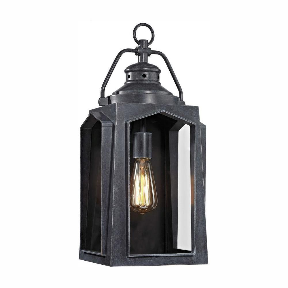 Home Decorators Collection 1 Light Charred Iron Outdoor Wall