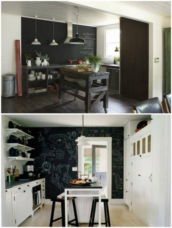 Le blackboard devient chalkboard peinture ardoise cuisine chalkboard blackboards et - Peinture ardoise cuisine ...