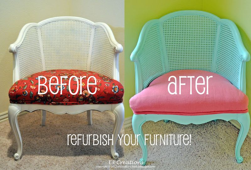 Cane Back Chair Refurbishment, might use this someday!