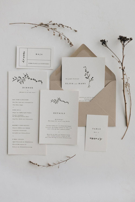 Hochzeitsset greta hochzeitspapeterie hochzeitseinladung save the date dankeskarte menükarte wedding stationery