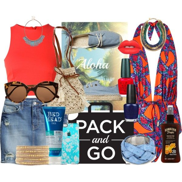 Pack and Go: Hawaii 2 by mariaignaciatoro on Polyvore featuring T By Alexander Wang, Lazul, H&M, Soludos, Chan Luu, Stella & Dot, Sole Society, Illesteva, Lime Crime and TIGI