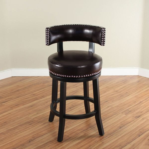 Mossoro Swivel Leather Counter Stool Home Decor