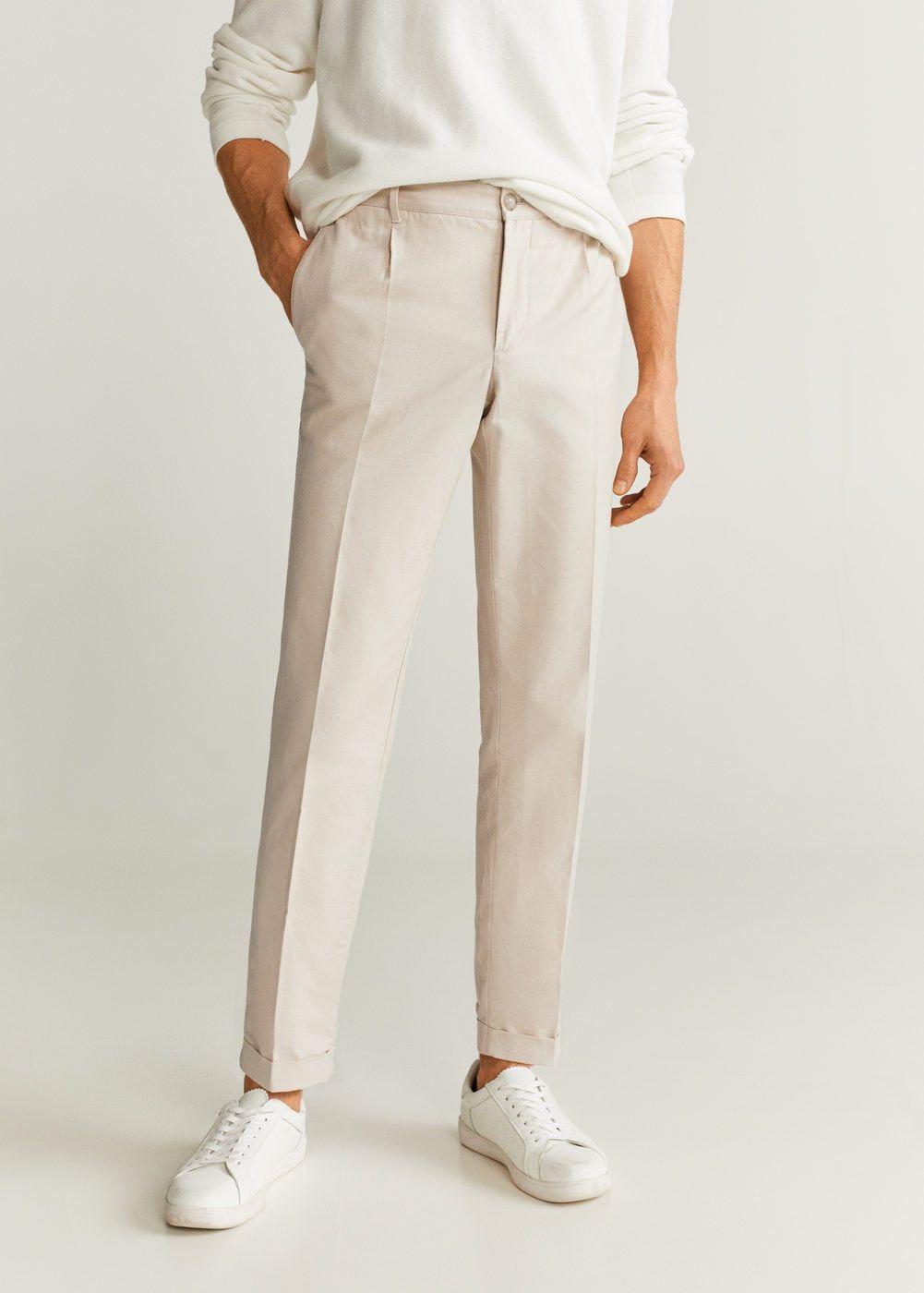 Slim Fit Linen Pants Men Mango Man Usa Mens Linen Pants Slim Fit Linen Pants Fitted Linen Pants [ 1400 x 1001 Pixel ]