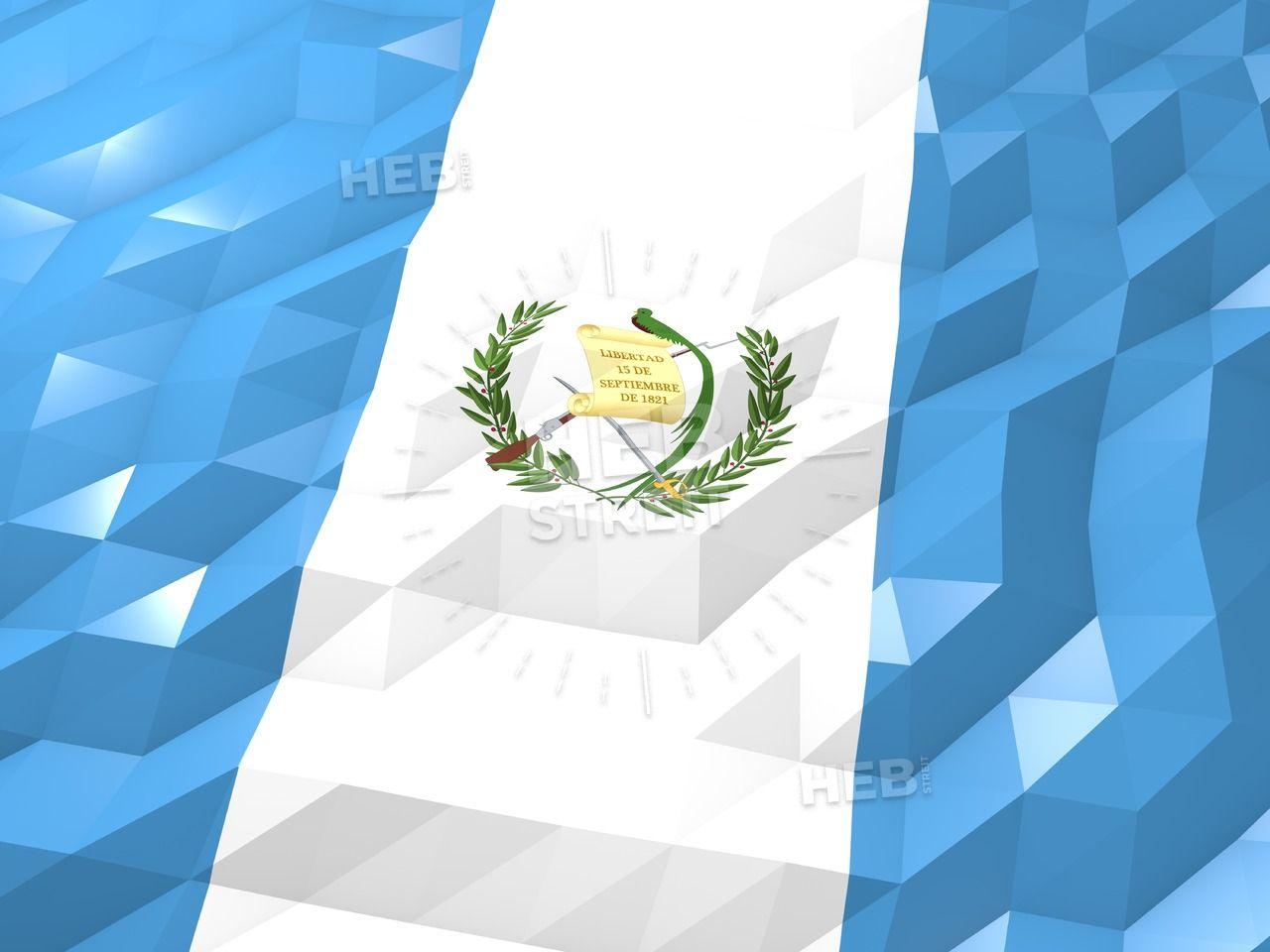 Flag Of Guatemala 3d Wallpaper Illustration Streit