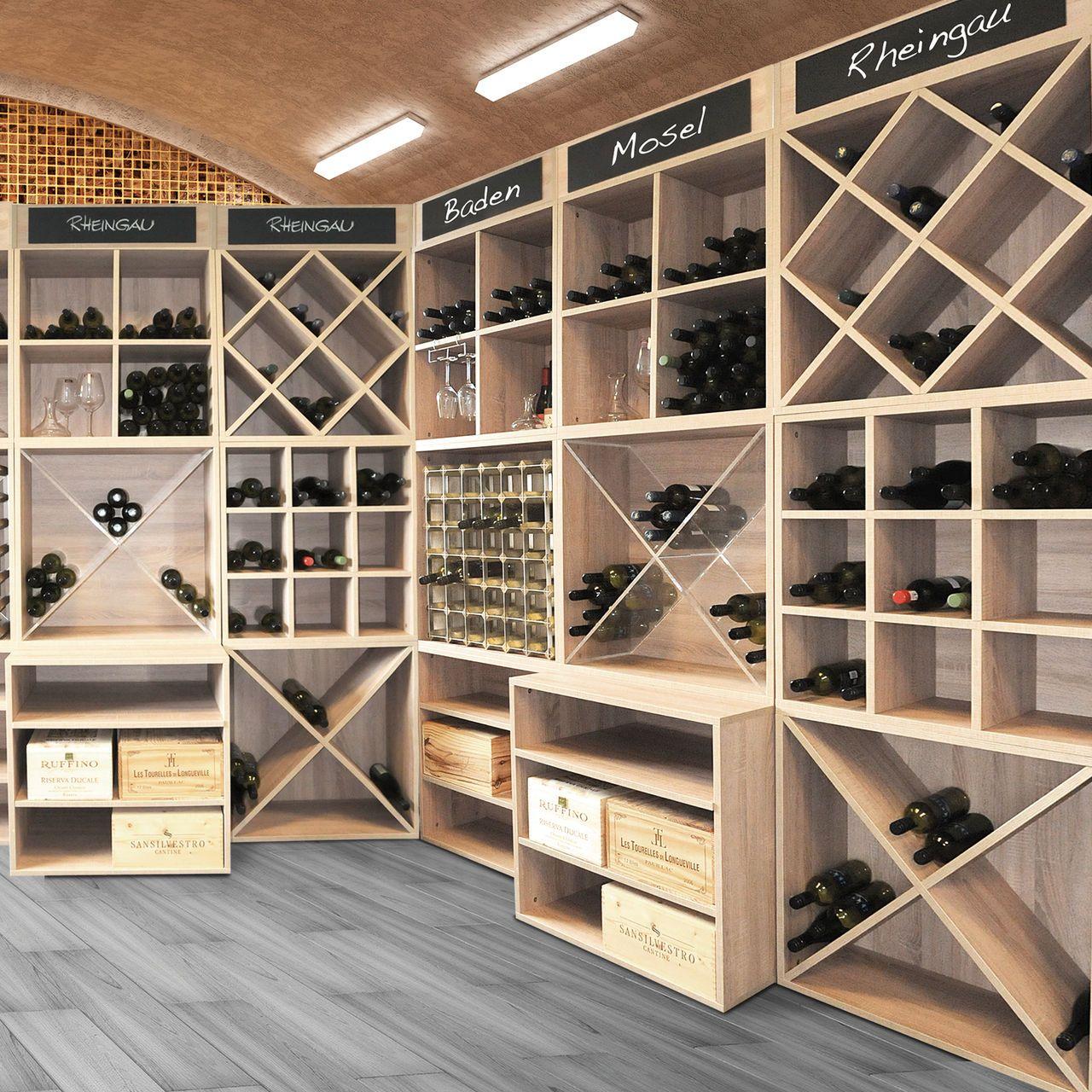 weinregal-system cavepro birnbaum für unendlich viele ... - Weinregal Design Idee Wohnung Modern Bilder