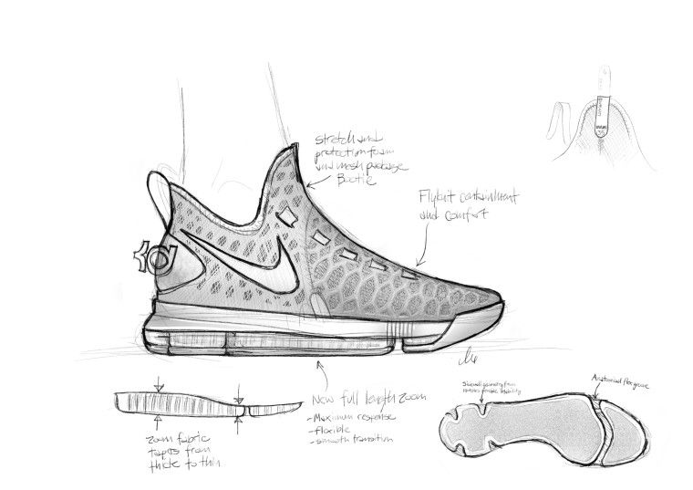 Nike Air Zoom Kd 9 Wave Dessin Chaussure Image Nike Chaussure