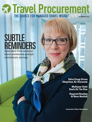 The November 2012 issue of Travel Procurement, featuring #Accenture's Mary Bastrentaz #biztravel #procurement #AccentureWomen