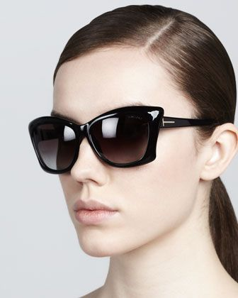 Lana Square Cat-Eye Sunglasses by Tom Ford at Neiman Marcus.