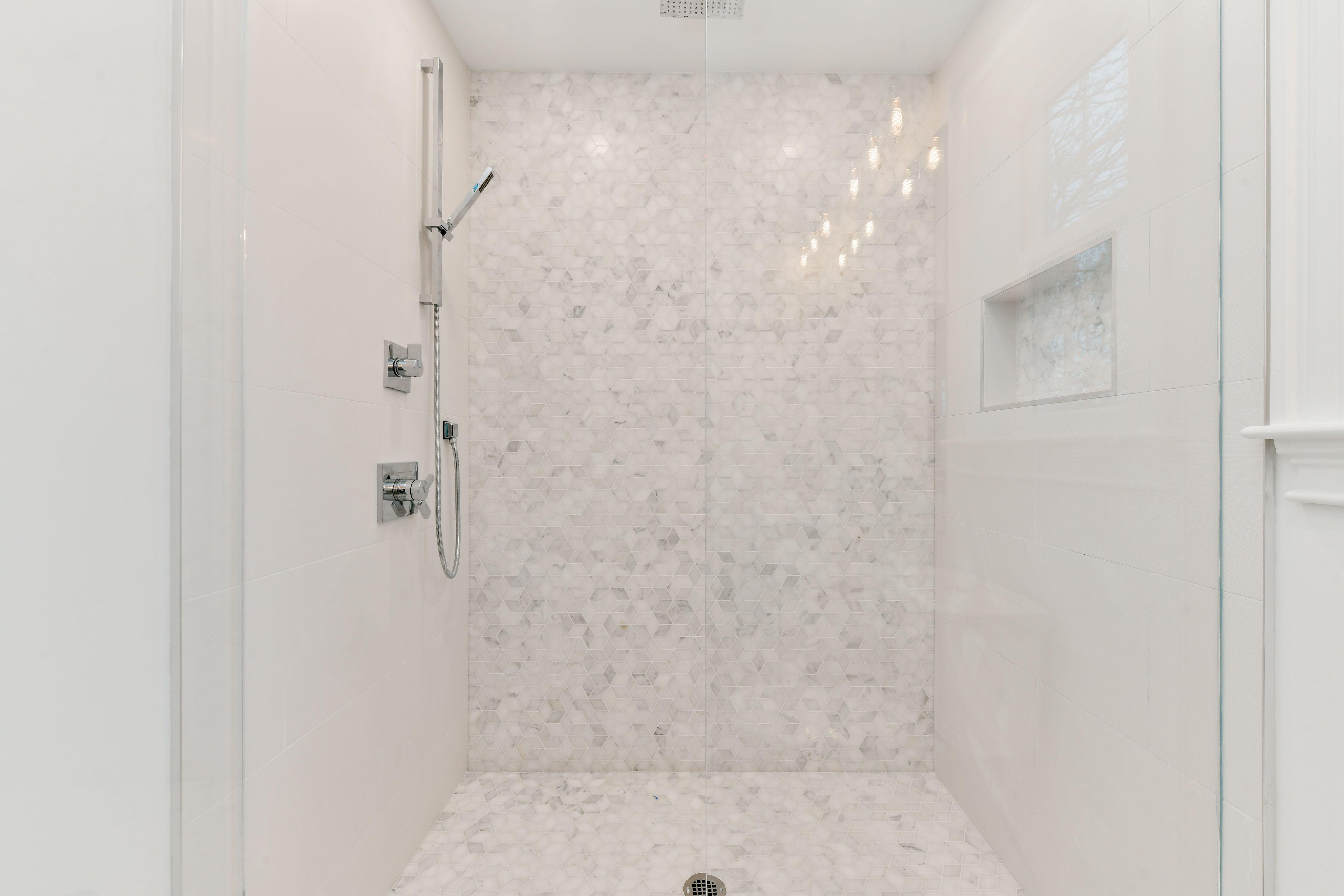 Riad Tile Casablanca Carrara Marble Shower Niche Amazing Showers Carrara Marble