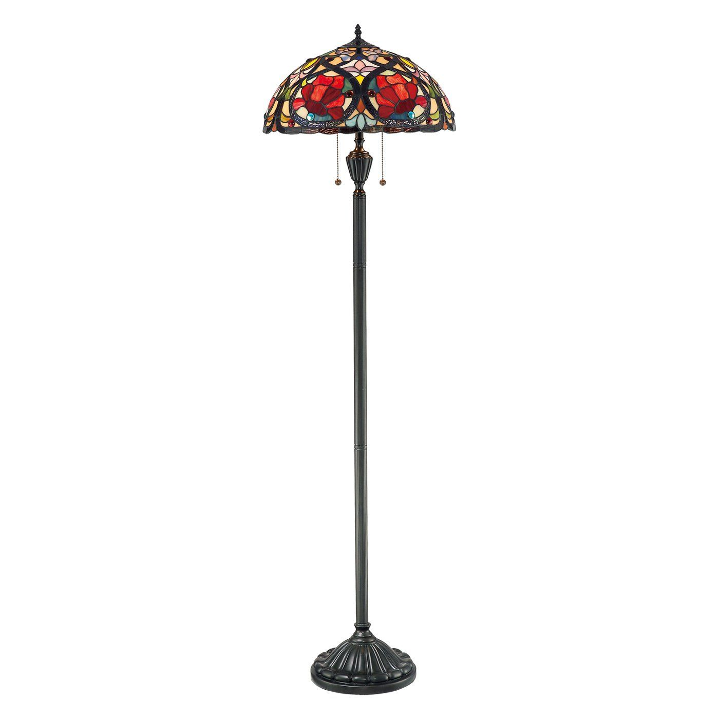 Tiffany Floor Lamp Glamorous Shop Quoizel Tf879F 2Light Larissa Tiffany Floor Lamp At Atg Stores Design Inspiration
