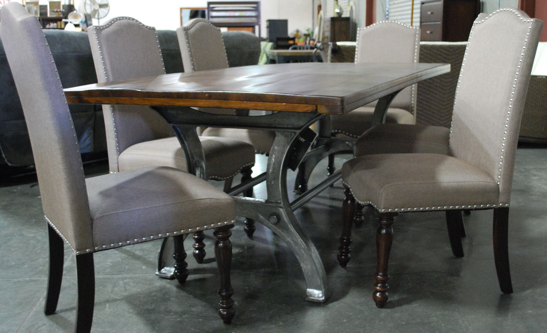 Big Heavy Table And Six Furniture Auctions Furniture Prices