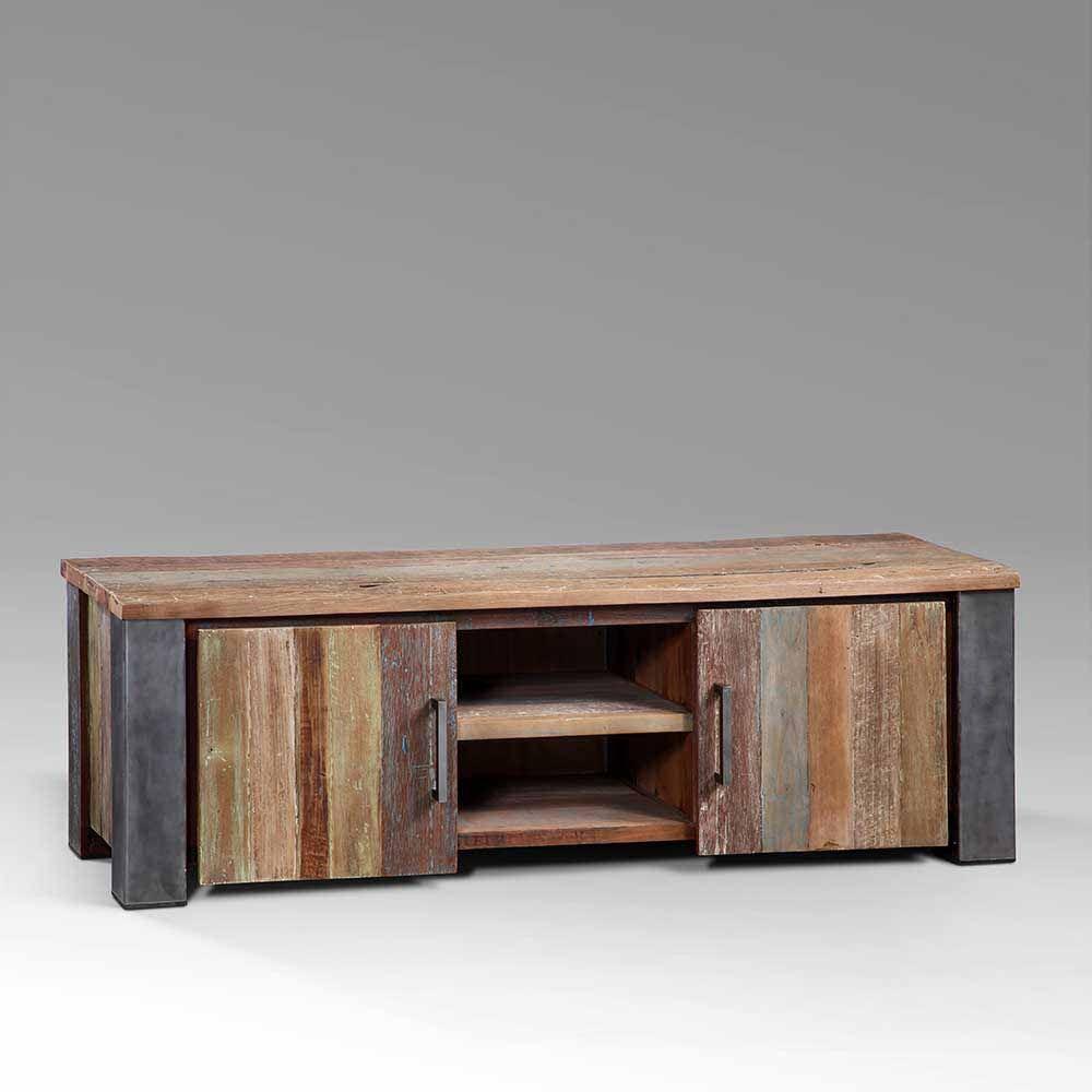 TV Board aus Teak Recyclingholz Metall 160 cm Jetzt bestellen unter ...