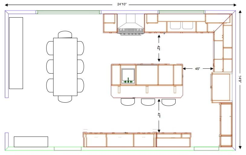 Kitchen Layout Plans With Island | MyCoffeepot.Org