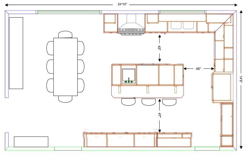 Kitchen Plans With Island Designing Kitchen Island Carts Kitchen Design West Island Montreal Kitchen Floor Plans With Large Island Kitchen Island Plans คร ว
