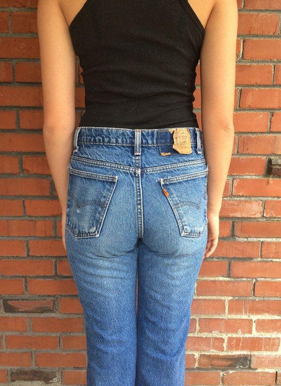 70s levis 517 orange tab high waisted jeans 29 waist made