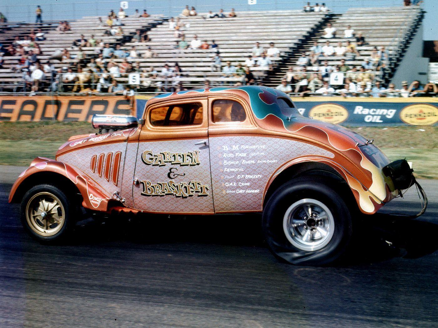 33 Willys Gasser Garten Braskett Drag Racing Cars Drag Cars Vintage Race Car