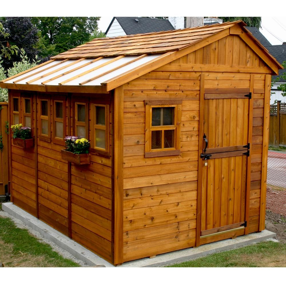 Outdoor Living Today Sunshed 8 ft. x 12 ft. Western Red ...