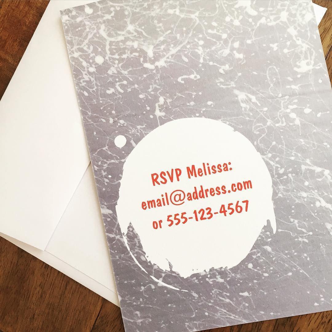 The back of paint splatter birthday invitation #tinythimble #zazzle ...