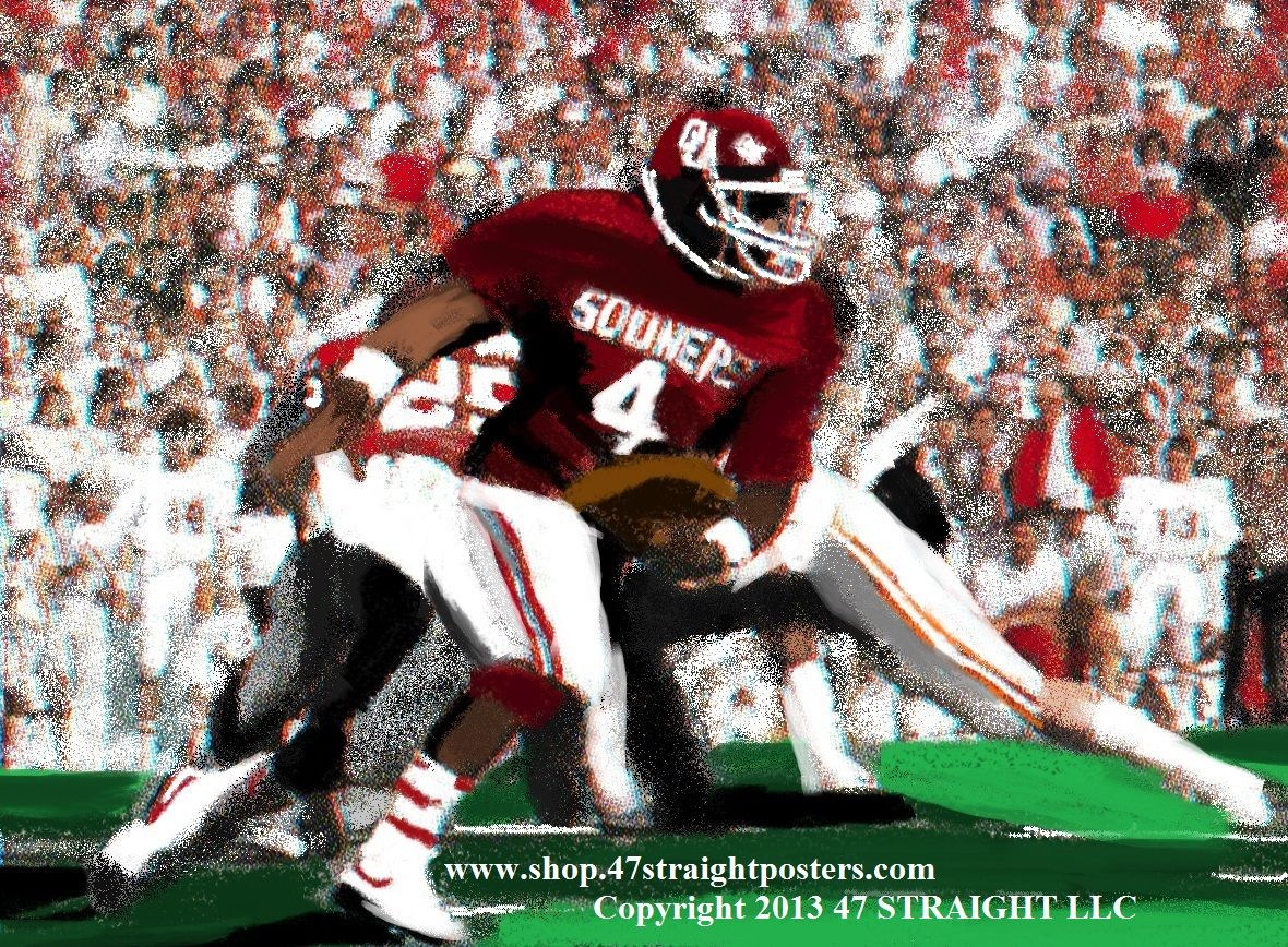 Father's Day gift ideas. OU Sooners football art on canvas ...
