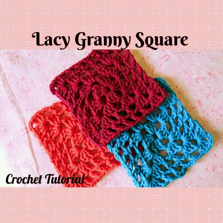 Crochet Made Easy - How to make a Lacy Granny Square (Tutorial ...