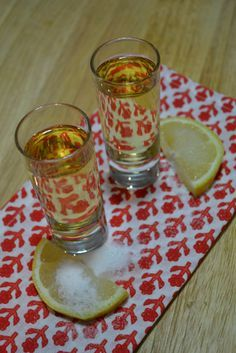 birthday cake shots Frangelico vanilla Vodka Lemon Sugar
