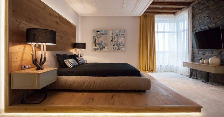 Cabeceros de madera ideas modernas para dormitorios de - Dormitorios de lujo ...