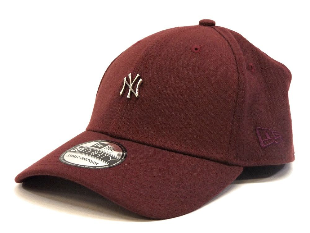 94704a84e66 New Era Metal Mini Logo 39THIRTY Yankees - Maroon   Silver – West Brothers