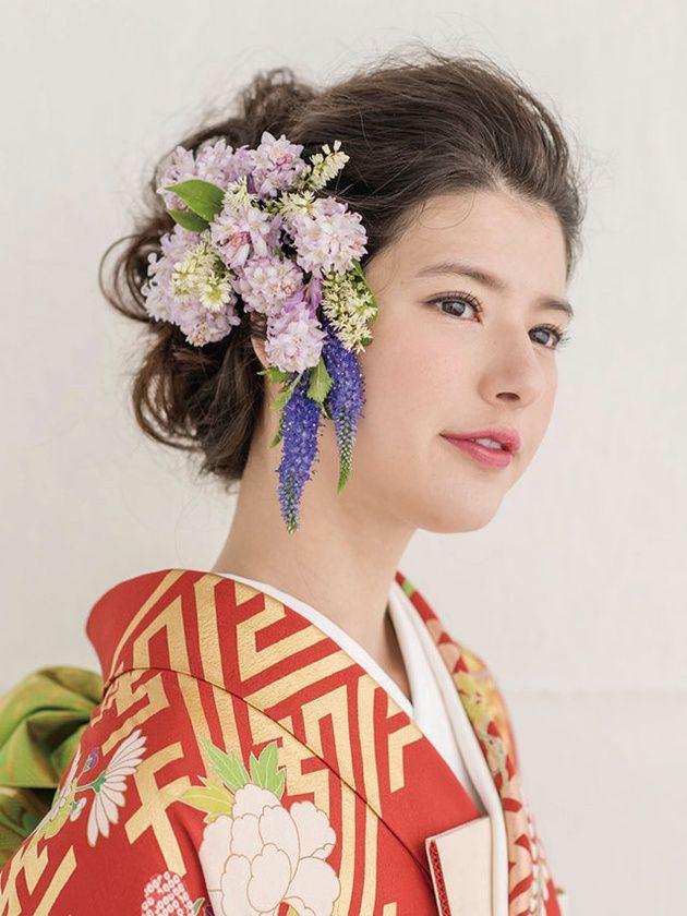 和の花嫁のための 華やかきものヘア最旬スタイル 韓国人の髪 ヘアピース アジアの男性のヘアスタイル