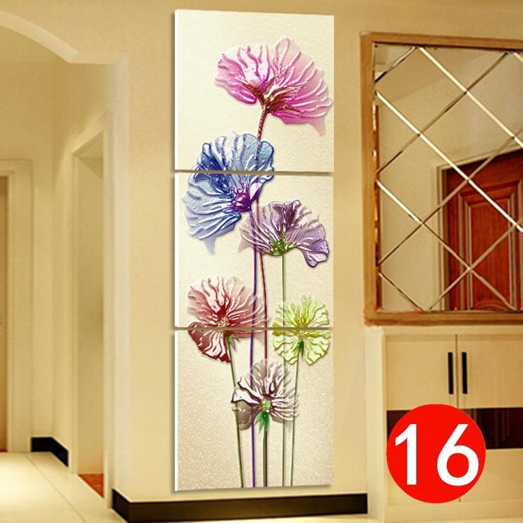 Hot Sell 3Pcs Pink Flowers Wall Painting HD Print Picture Still Life ...